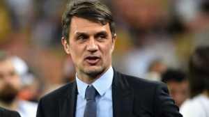 Legenda hidup AC Milan yang kini menjabat direktur teknik klub, Paolo Maldini. (AFP/FAYEZ NURELDINE)