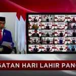 Upacara yang berlangsung secara virtual itu dipimpin langsung oleh Presiden Joko Widodo sebagai inspektur upacara.