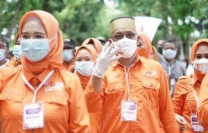 Pasangan calon Bupati dan Wakil Bupati Andi Nirawati - Lutfi Hanafi dalam Pilkada serentak tahun 2020 di Kabupaten Pangkep.(Ist).
