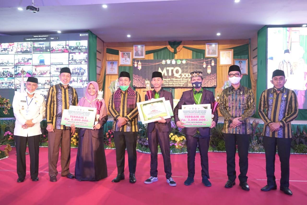 Bupati Pangkep, Syamsuddin Hamid bakal memberikan hadiah umrah bagi lima kafilah asal kabupaten Pangkep yang meraih juara I dalam kegiatan MTQ XXXI Provinsi Sulawesi Selatan. (Ist).