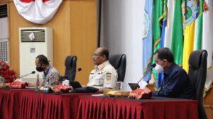 Dirjen Bina Adwil Kemendagri, Safrizal, dalam rapat Analisa dan Evaluasi (Anev) Pelaksanaan Kampanye Pilkada Serentak Tahun 2020, Jakarta, Jumat (16/10/2020). (Dok : Kemendagri)