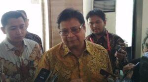 Menteri Koordinator Bidang Perekonomian Airlangga Hartarto. (Suara.com/Fadil)