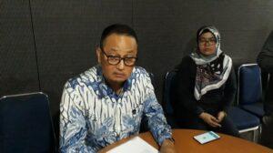 Direktur Jenderal Aplikasi Informatika (Aptika) Kominfo, Semuel Abrijani saat jumpa pers di Jakarta, Selasa (10/7/2018). [Suara.com/Aditya Gema Pratomo]