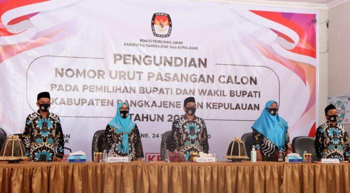 Ketua dan anggota Komisi Pemilihan Umum (KPU) Kabupaten Pangkep (Ist).