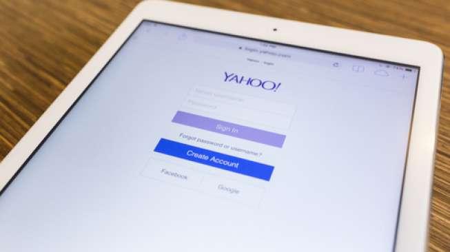 Ilustrasi layanan email Yahoo (Shutterstock).