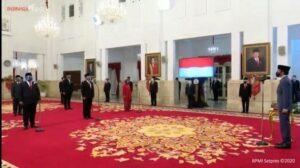 Pelantikan menteri baru Jokowi di Istana Negara