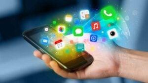 Ilustrasi aplikasi-aplikasi dalam ponsel pintar (Shutterstock).