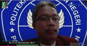 Direktur Politani Negeri Pangkep Darmawan.(youtube /Pangkep TV).