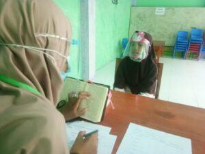 Puluhan siswa Sekolah Dasar Islam Terpadu (SDIT) Al Hikmah mengikuti ujian untuk hafalan juz.(Pangkep.terkini.id).