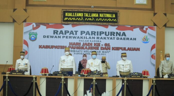 Rapat Paripurna dan Hari Jadi ke-61 Tahun Kabupaten Pangkep, (Ist).